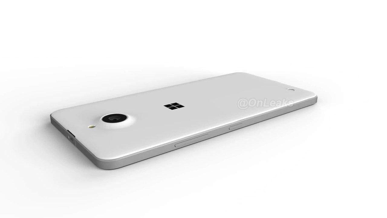 Render del Microsoft Lumia 850