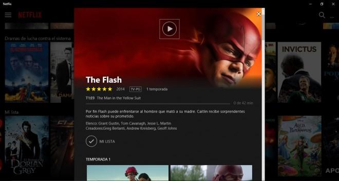 Netflix renueva la interfaz en la app para Windows 10