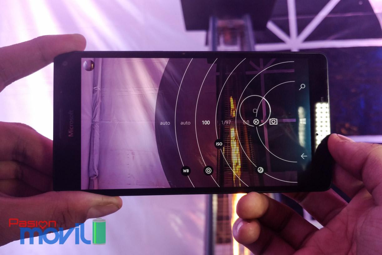 Opciones de cámara del Lumia 950 XL