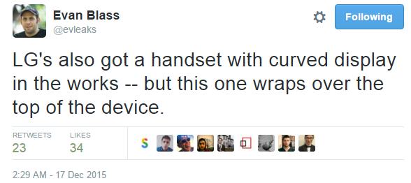 evleaks filtracion smartphone lg pantalla curva