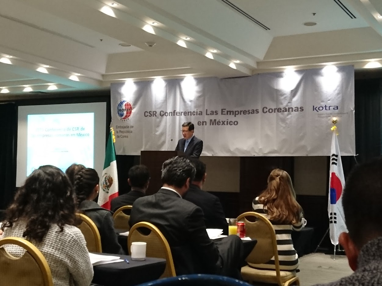 responsabilidad social embajador corea del sur mexico