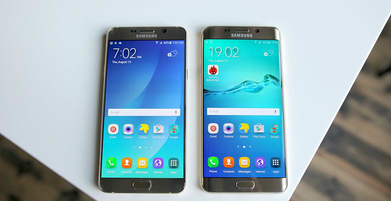 Galaxy Note 5 y Galaxy S6 Edge+