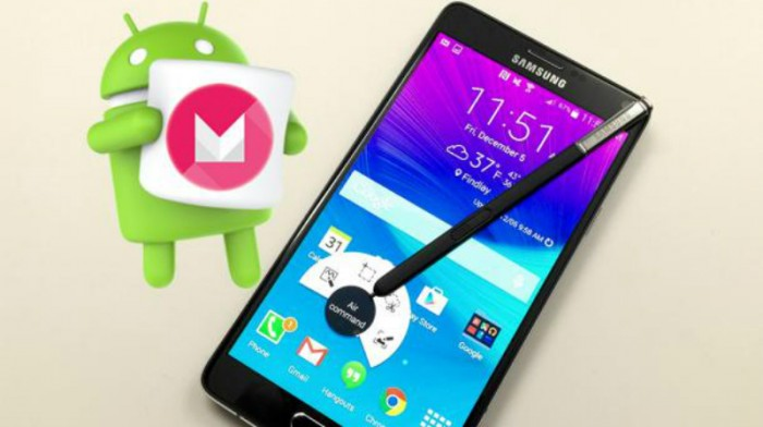 Galaxy Note 4 con Marshmallow