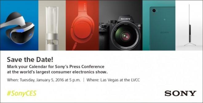 Anuncio de Sony para el CES 2016