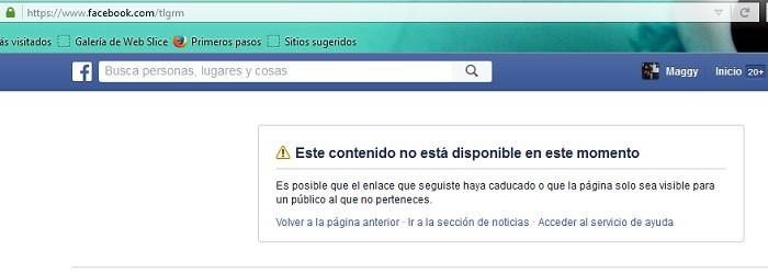 telegram facebook