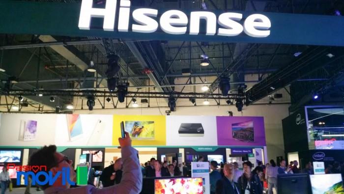 Hisense booth marca ces 2016