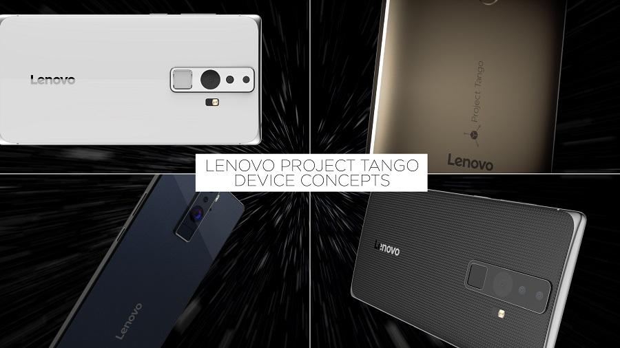 Render conceptual del smartphone Lenovo de Project Tango