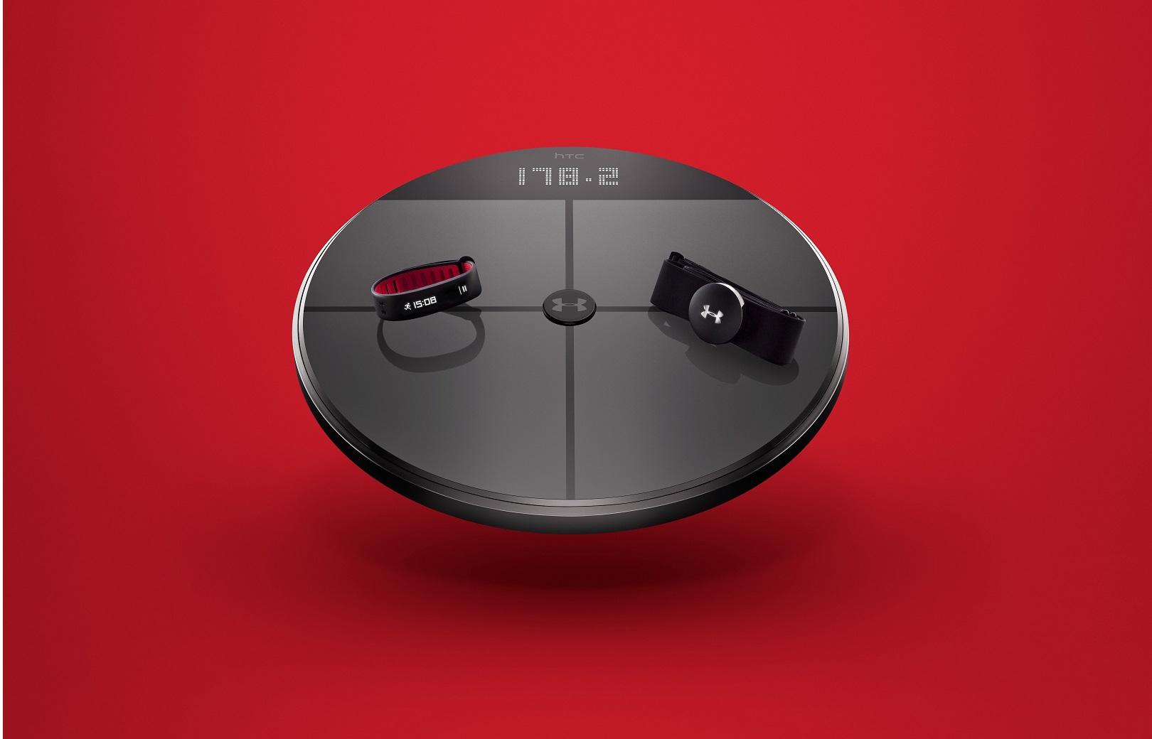 HealthBox es un conjunto de dispositivos deportivos inteligentes por UnderArmour y HTC