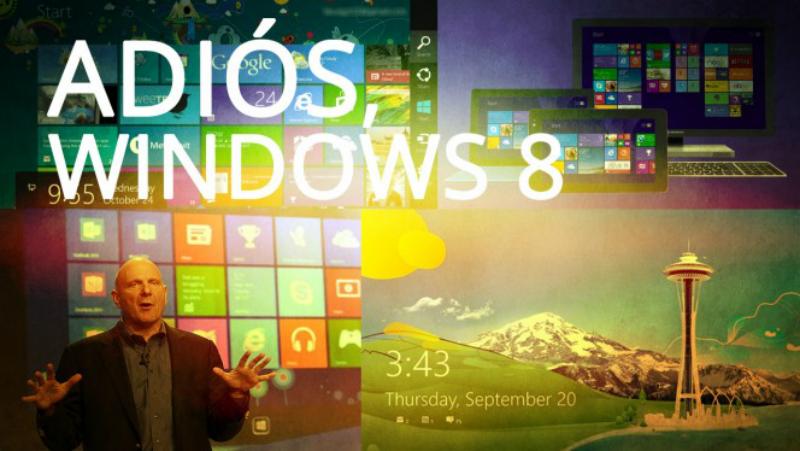 Windows 8 se despide con tres años y medio de vida