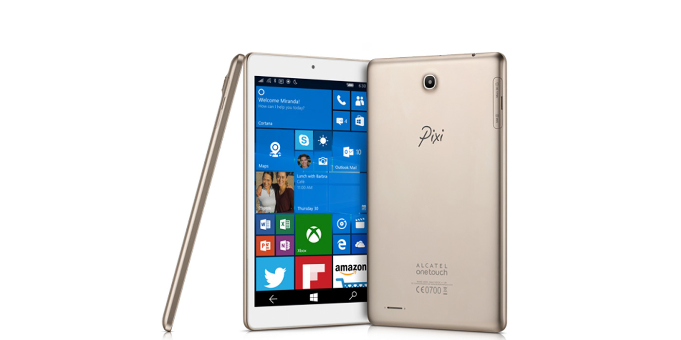 Alcatel OneTouch Pixi 3 con Windows 10 Mobile
