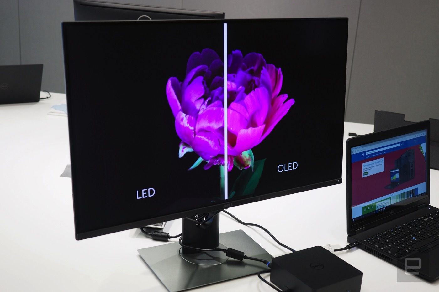 dell panel oled 4k ces 2016 5