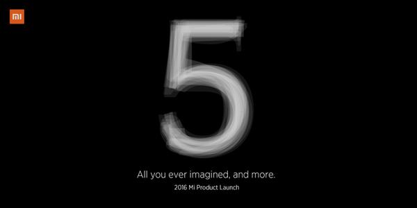 Xiaomi Mi 5 estará presente en el MWC 2016