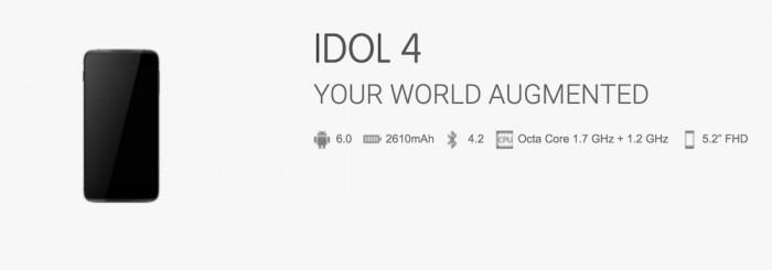 Especificaciones Alcatel Idol 4