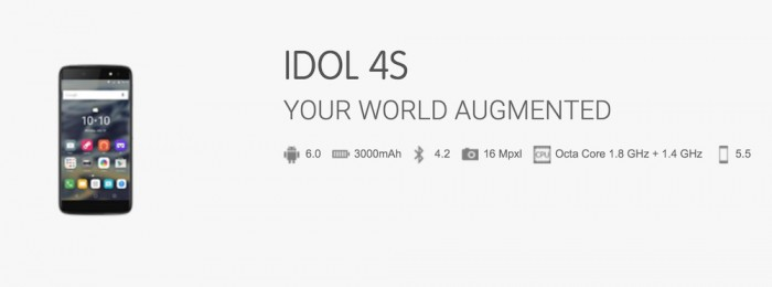 Especificaciones Alcatel Idol 4s