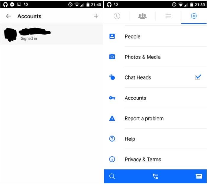 Facebook Messenger multiples cuentas