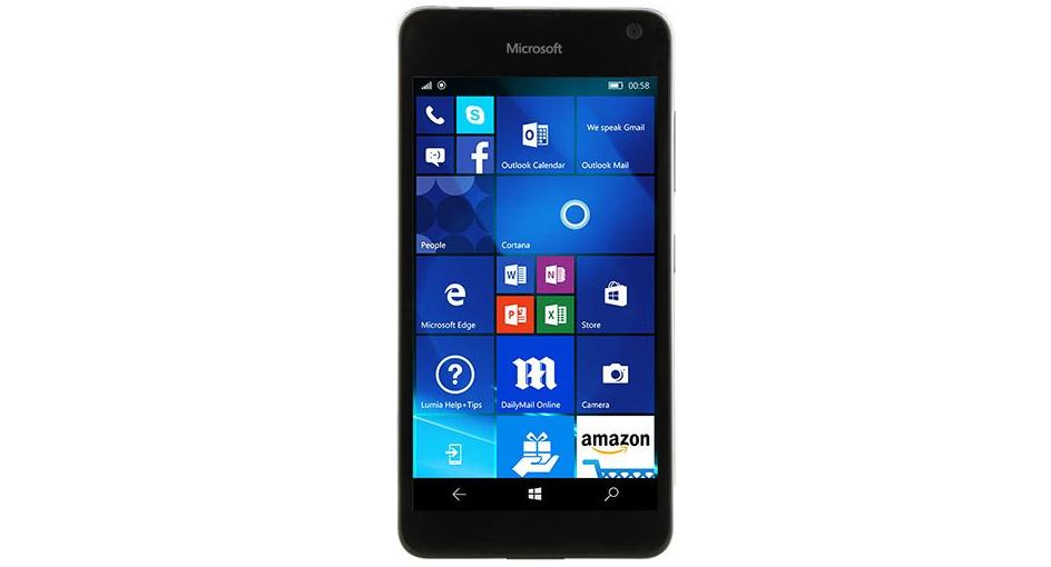 Diseño frontal del Lumia 650