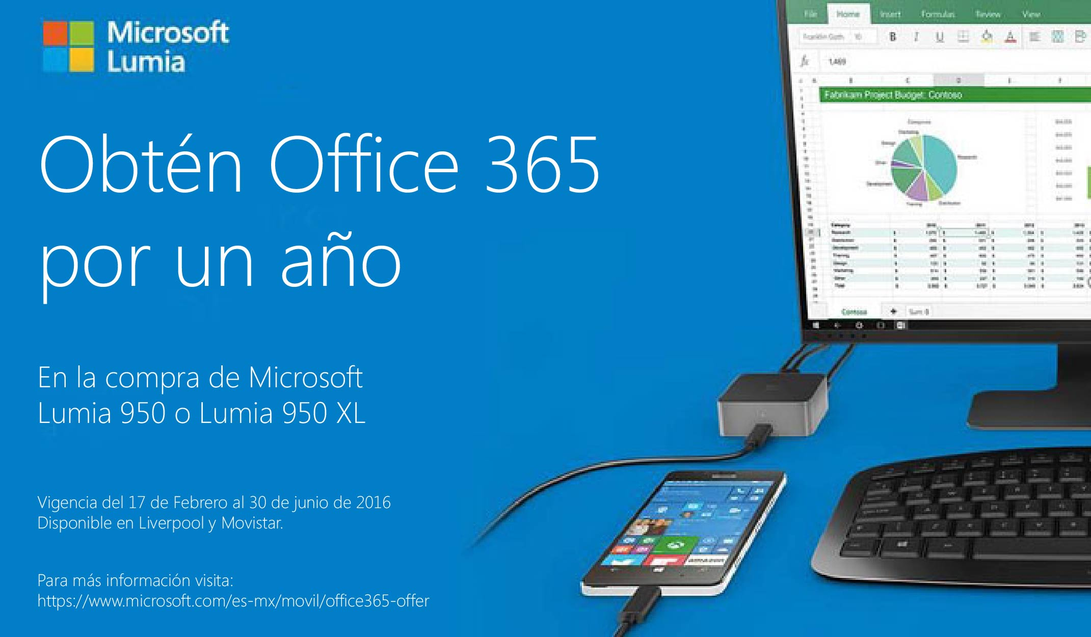 Office 365 gratis Lumia 950 xl