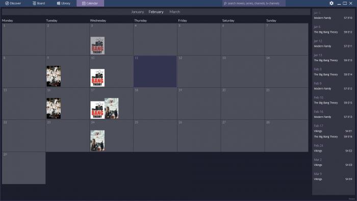 Stremio-calendario