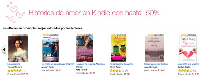 amazon kindle libros romanticos