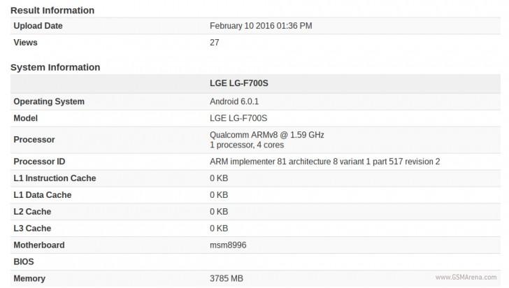 filtracion especificaciones geekbench LG G5