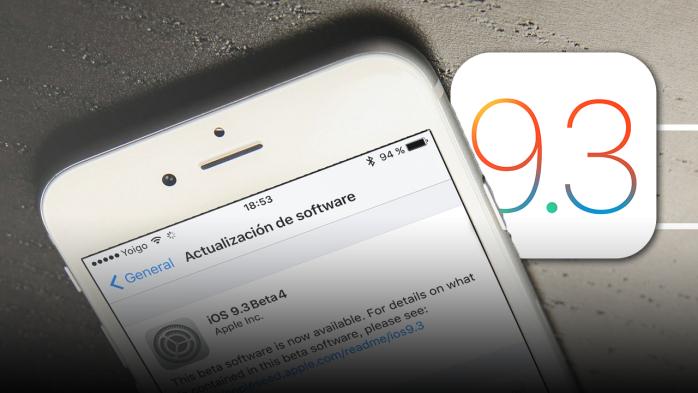 iOS-9.3 beta 4