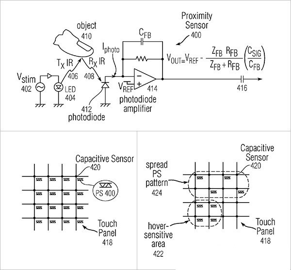 patente apple controlar pantallas sin tocarlas