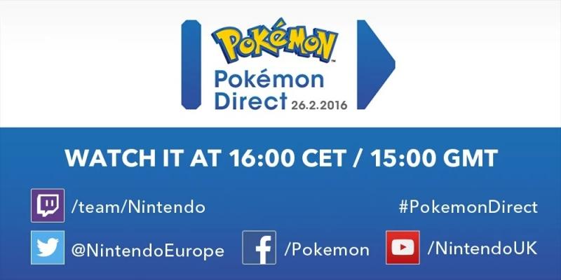 pokemon direct 26 febrero 2016