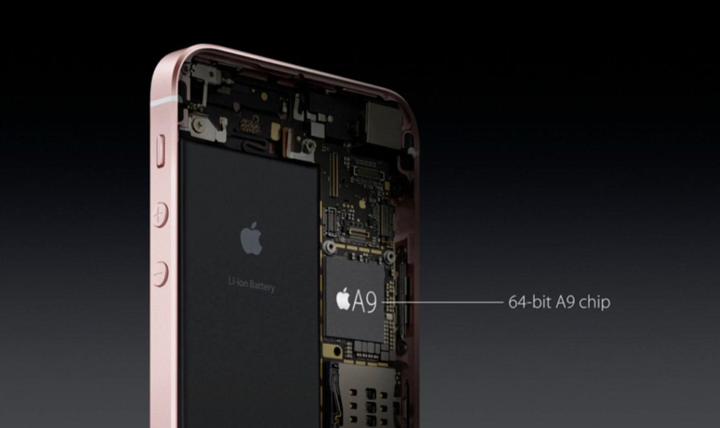 Apple SE incorpora un Apple A9