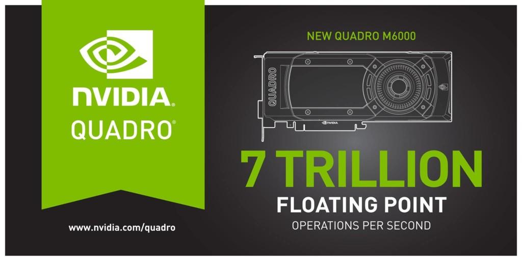 NVIDIA Quadro M6000 potencia