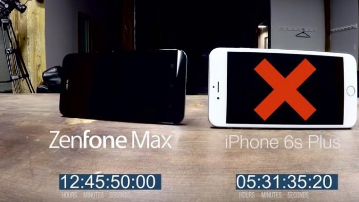 duracion bateria zenfone max iphone 6s plus