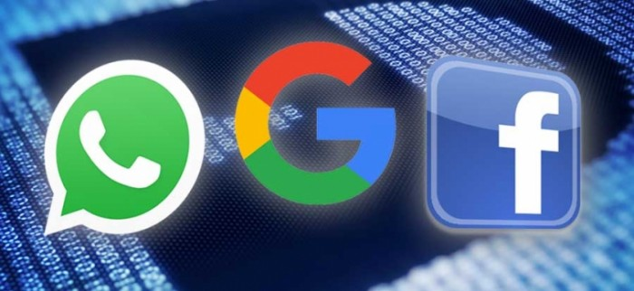facebook, whatsapp, google
