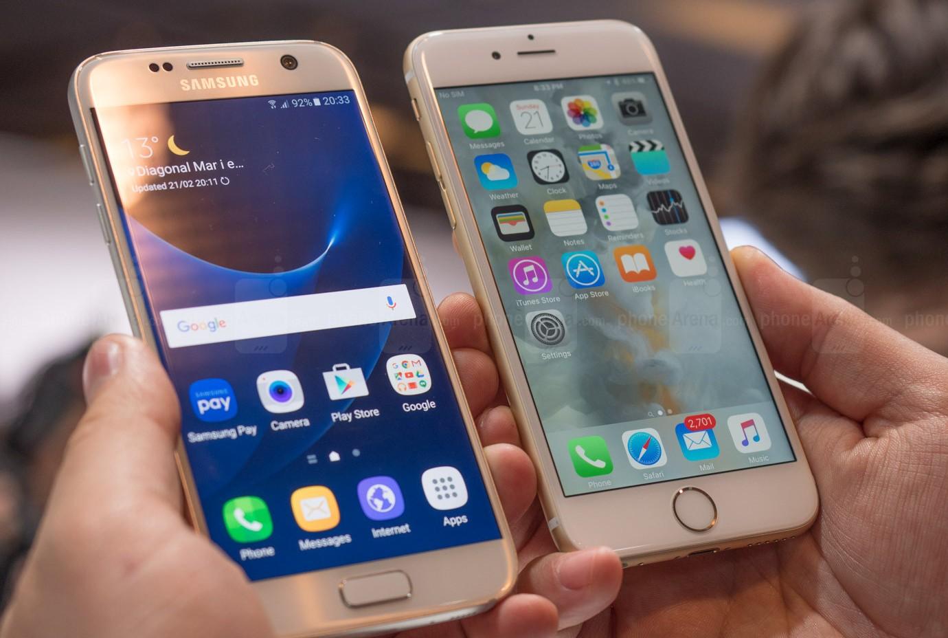 galaxy s7 iphone 6s comparativa camara