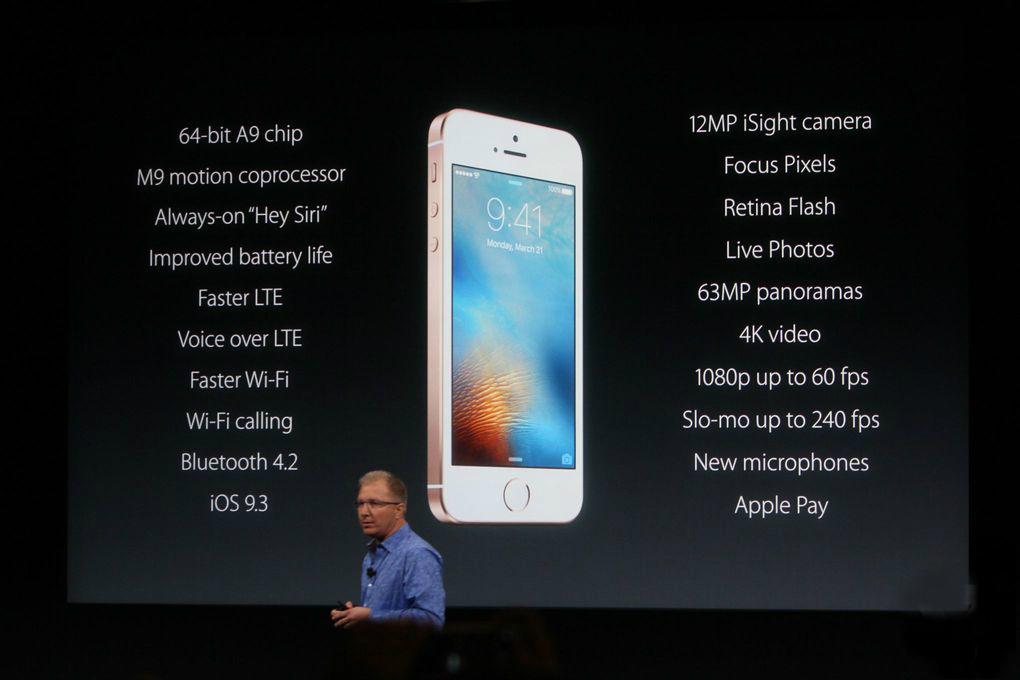 iPhone SE especificaciones tecnicas