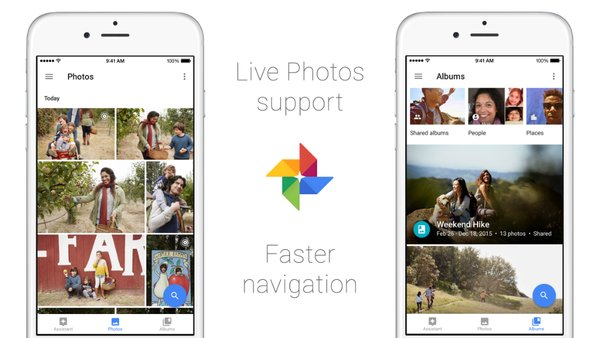 live photos google fotos ios