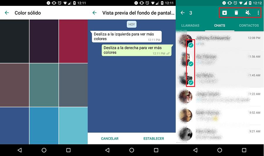 whatsapp fondos color solido seleccion multiple