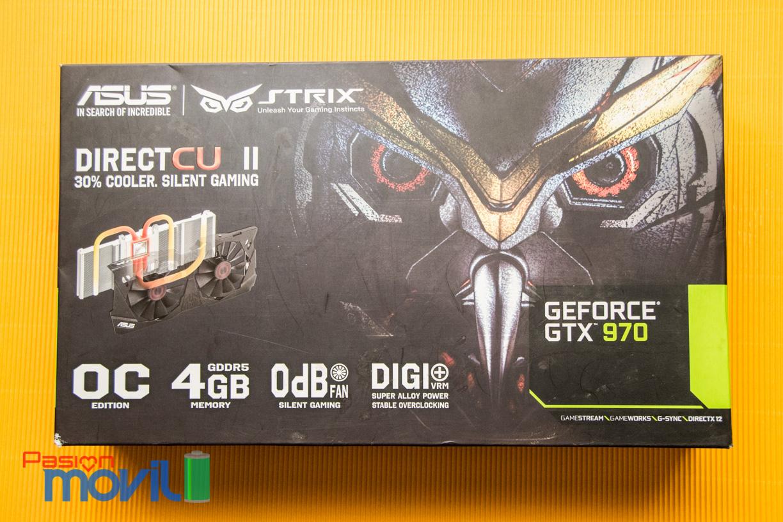 Un clásico embalaje con la Strix GTX 970
