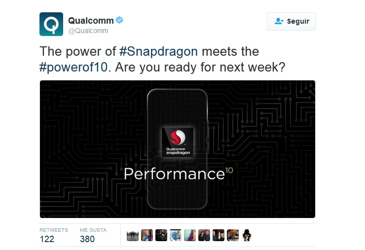 Tuit de Qualcomm sobre HTC 10