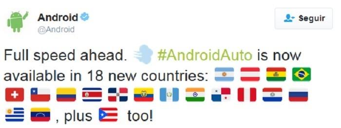 android auto banderas