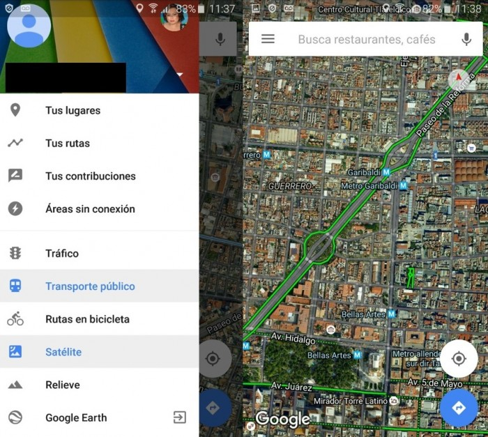google maps rutas bicicleta