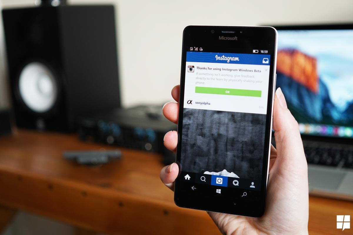 instagram- windows 10 mobile