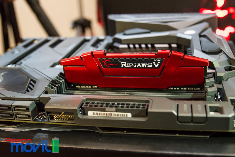G.Skill Ripjaws V ofrece versiones con frecuencias desde 2,133 MHz hasta 4,000 MHz