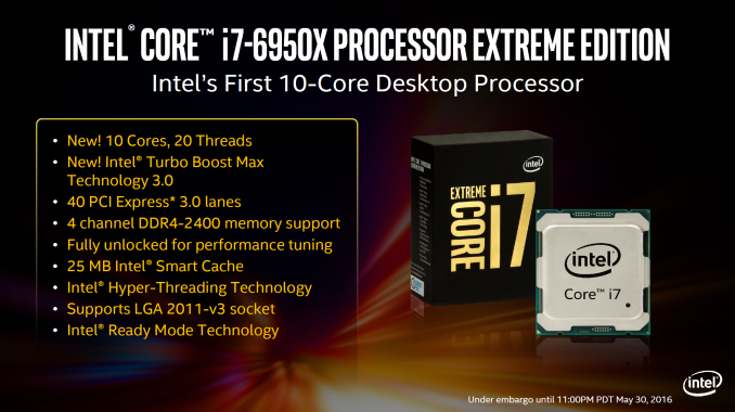 Intel Core i7 BroadWell-E