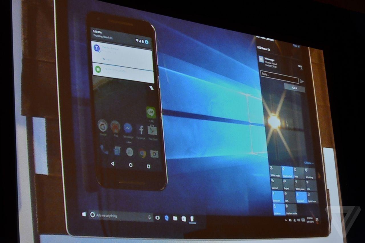 notificaciones telefonos android en windows 10 pc