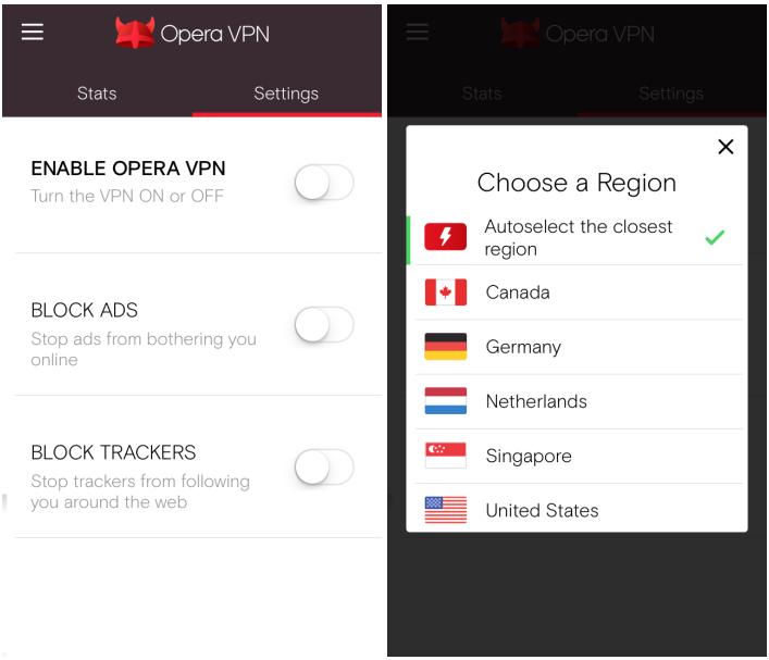 operan vpn app ios