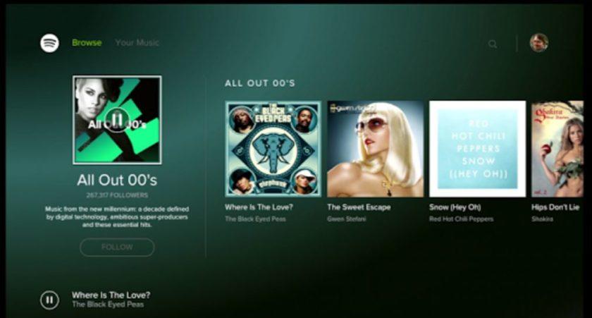 Así luce Spotify en Android TV