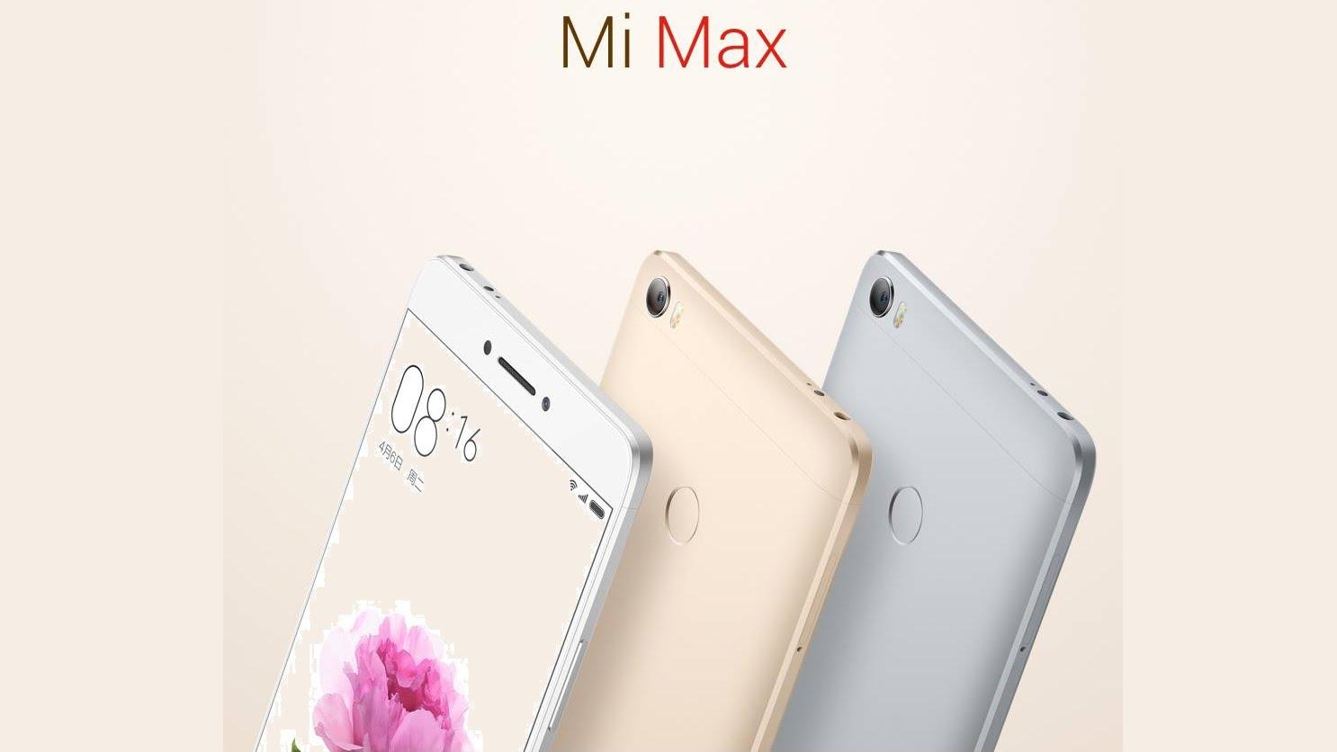 Mi Max estará disponible en tres colores y tres versiones