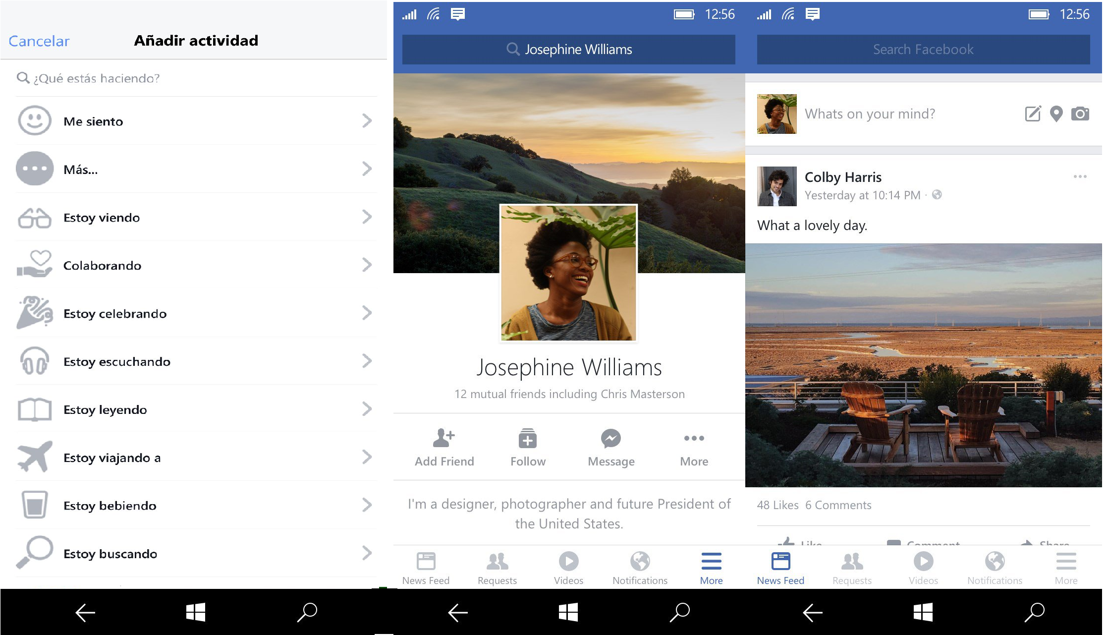 Facebook oficial windows 10 mobile capturas2