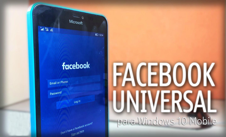 Facebook oficialmente ya está disponible para Windows 10 Mobile