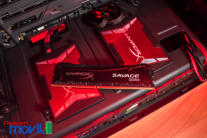 Kingston HyperX Savage SSD resulta combinarse perfectamente con una memoria RAM HyperX Savage DDR4