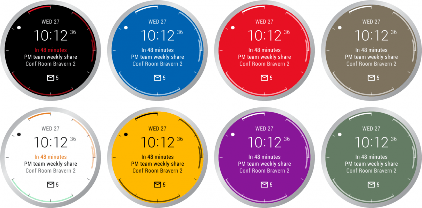 Outlook caratulas android wear